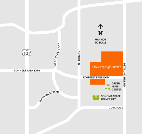 map of University District
